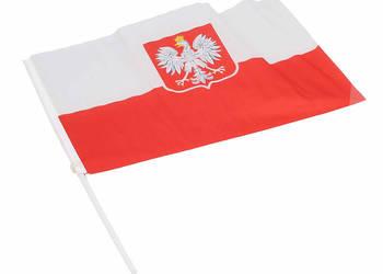Polska flaga z godłem BIAŁO-CZERWONA ORZEŁ 20 x 30 cm