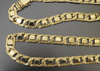 złoty łańcuch 1cm 585 14k