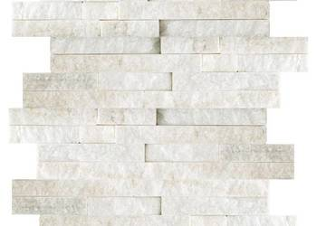 Panele ścienne 10x36 kwarcyt White Stackstone elewacje