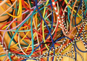 Kolorowe Kable w podwónym oplocie tekstylnym