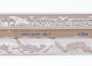 Szablon kreślarski literowo-cyfrowy 10/1,0mm Koh i Noor