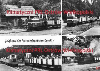 Post carte Gruss von der Pioniereisenbahn Cottbus Berlin