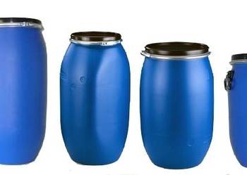 Beczki plastikowe 30-220L z deklem certyfikat UN, nowe