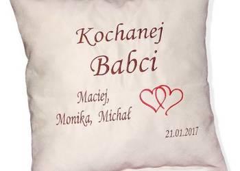 Prezent dla BABCI i DZIADKA Jasiek Poduszka z napisem HAFT