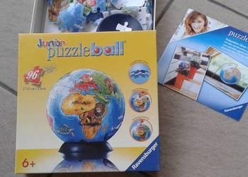 Puzzle globus kula ziemska 3D kuliste 96 elementów