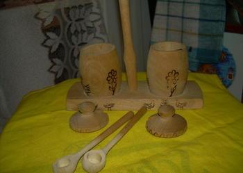 Ekologiczny- kabaret pieprz i sól nowy,drewno