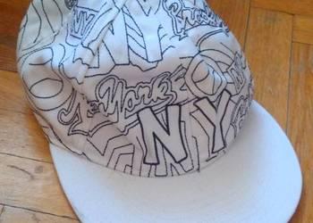 Fullcap czapka z daszkiem biała NY New York