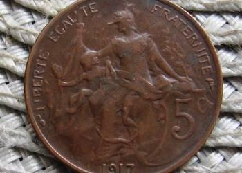 Francja 5 Centymów 1917r