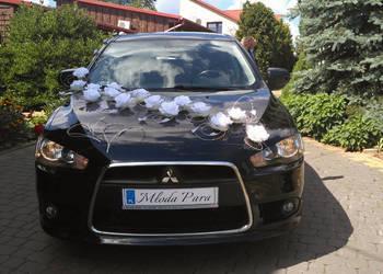 Samochód do ślubu, mitsubishi lancer do ślubu.