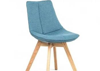 Krzesło tapicerowane niebieskie albo szare