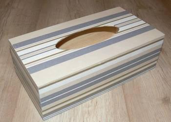 Chustecznik pudełko rękodzieło storczyk lawenda kawa wzory