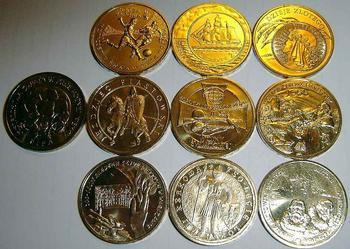 Zestaw (10 sztuk) monet 2 zł z worka menniczego
