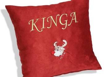 Poduszka na Święta dla Dziecka z Imieniem na Mikołaja HAFT