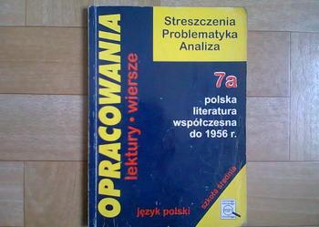 Opracowania: polska literatura współczesna do 1956r, greg