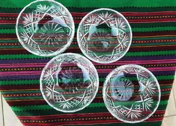4 kryształowe miseczki