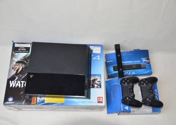 KONSOLA SONY PLAYSTATION PS4, KAMERA, 2 PADY + 6 GIER