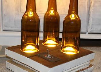Lampa z butelek klimat barowy niepowtarzalna handmade