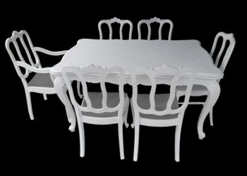 komplet ludikowski stół rozkładany + 6 krzeseł