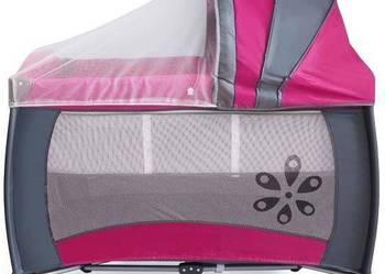 Łóżeczko turystyczne kojec zabawki WARSZAWA Różowe + siatka