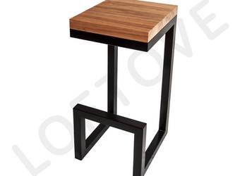 Hoker - krzesło barowe stalowe - loft , industrial