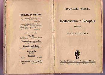 (1423) RODZEŃSTWO Z NEAPOLU – FRANCISZEK WERFELD  OKOŁO 1920 ROKU