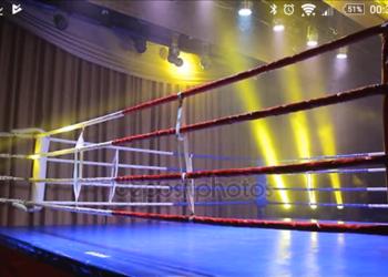 Ring bokserski z podłogą 5x5