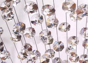 Zasłony kryształowe, kurtyny z kryształków, łańcuchy