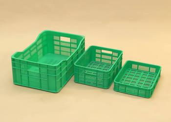Skrzynka zielona pcv, skrzynka warzywo 40x30x8,5cm