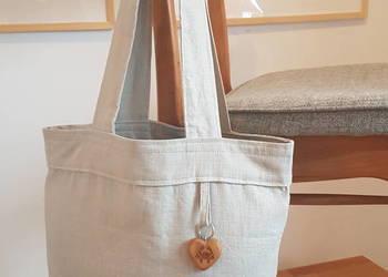 Lniana torba na zakupy, eko torba, torba z lnu, siatka