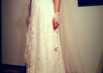 Styl RETRO Suknia Ślubna z włoskiej koronki Francesca