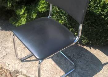 Komplet 6 krzeseł - obicie ze skóry ekologicznej