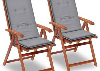 vidaXL Poduszki na krzesła ogrodowe, 2 szt. 43179
