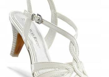 marco tozzi sandały na obcasie