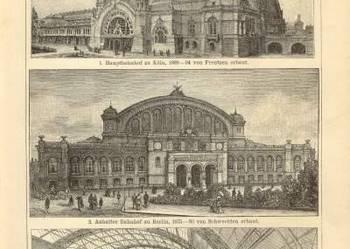 KOLEJ -  oryginalne XIX w. grafiki