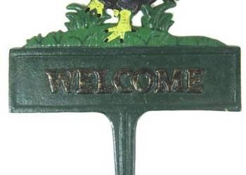 Tabliczka dekoracyjna witająca gości. Welcome.