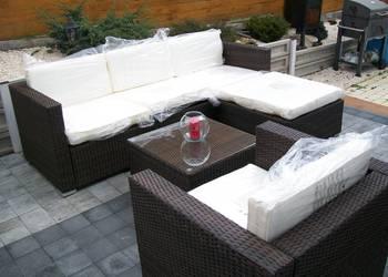 sofa fotel naroznik zestaw mebli technorattan braz