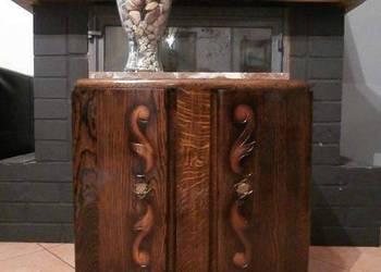 Komoda/szafka dębowa z marmurem