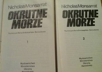 Okrutne morze - Nicholas Monsarrat - dwa tomy.