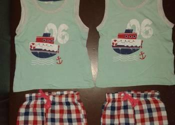BLIŹNIAKI bluzka i szorty na LATO dla bliźniaków 86-92