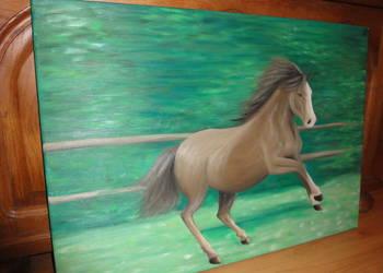 Obraz olejny na płótnie Koń / sztuka / malarstwo
