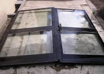 Drzwi sklepowe dwuskrzydłowe oszklone 206x240cm