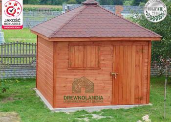 domek narzędziowy gospodarczy altana drewutnia Drewnolandia
