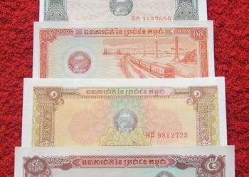 STARA KAMBODŻA 1979 ROK Banknoty Zestaw - 5 sztuk UNC