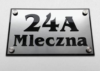 Tabliczka adresowa srebrna, napisy 3D, numer na dom - wysyłk