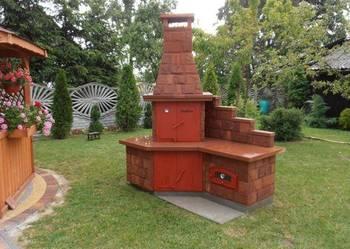 Wędzarnia, grill z kamienia naturalnego.