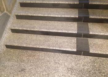schody granitowe szare rozmiar 150 cm płomień poler