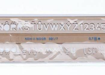 Szablon kreślarski literowo-cyfrowy 20/2,0mm Koh i Noor