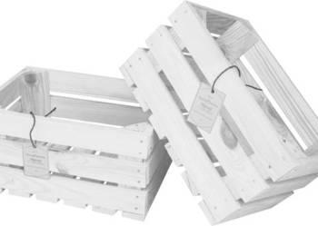 Drewniana skrzynka dekoracyjna 30x20x15 biała