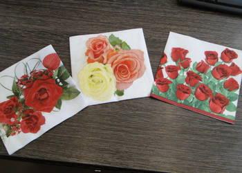 Zestaw serwetek do decoupage w róże