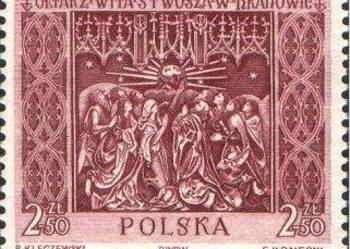 Polska 1960 r.  nr 1039 / - 1 zn. Ołtarz Wita Stwosza